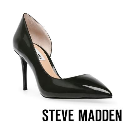 STEVE MADDEN-LESSONS 鏡面側簍空高跟鞋-黑色