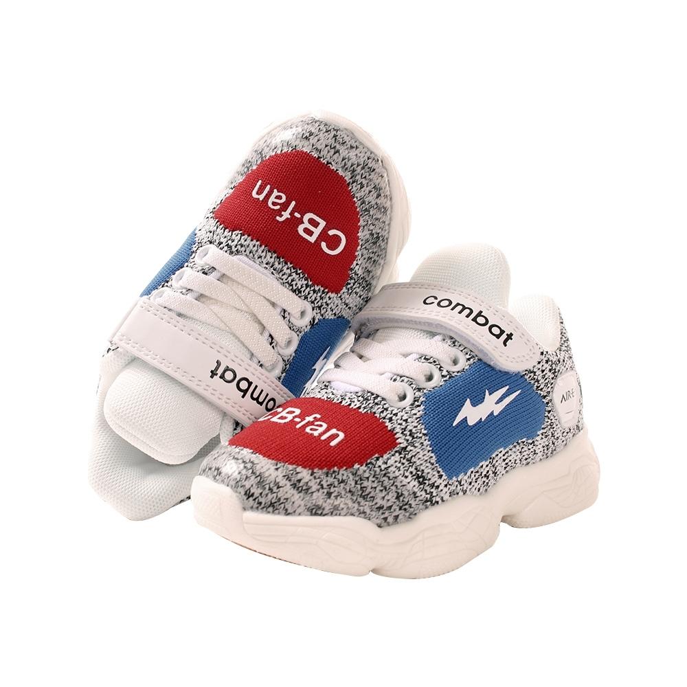 童鞋 輕量透氣飛織運動休閒鞋sd7193 魔法Baby