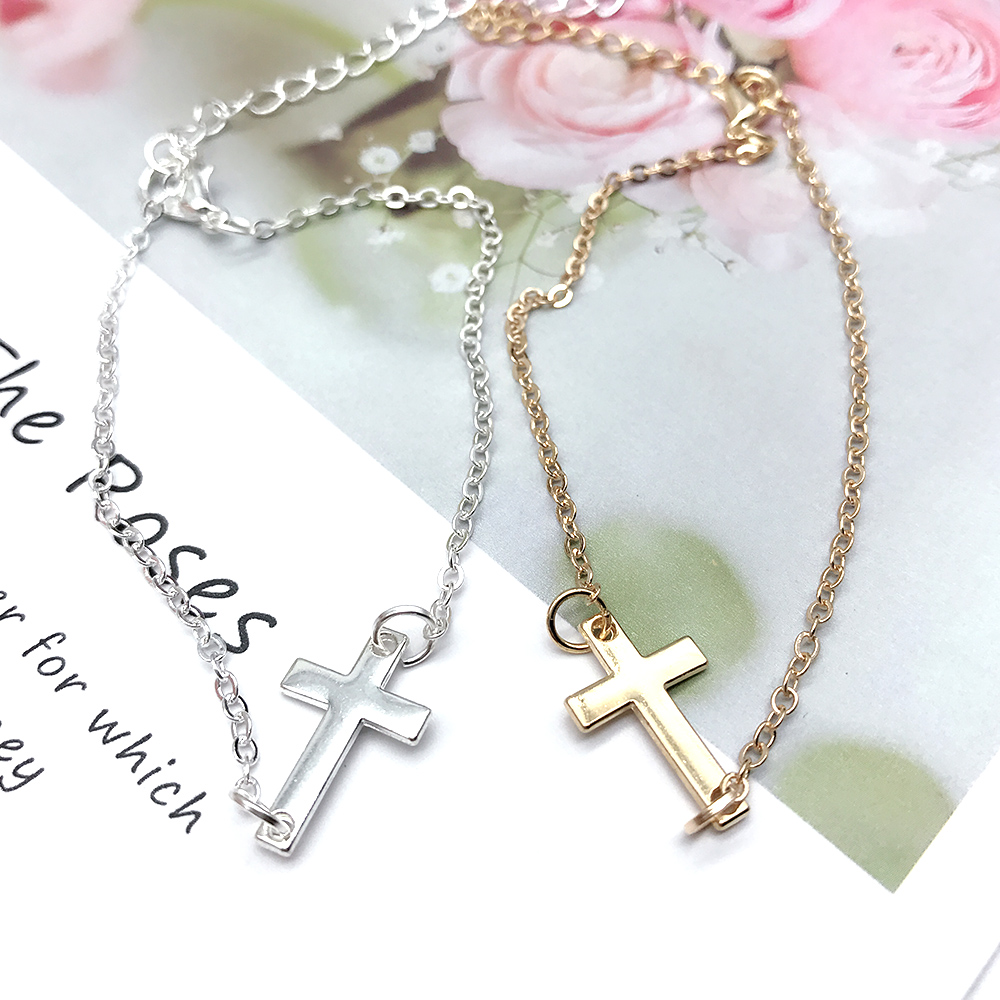 Hera 赫拉 簡約十字架守護小手鍊-2色