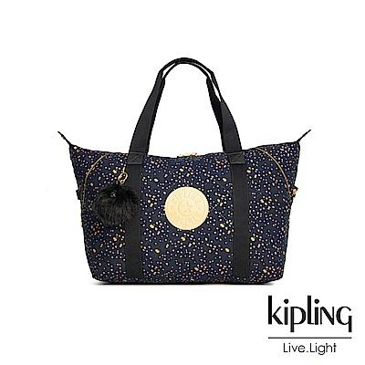 Kipling 夜黑潑墨星點手提側背包-ART M