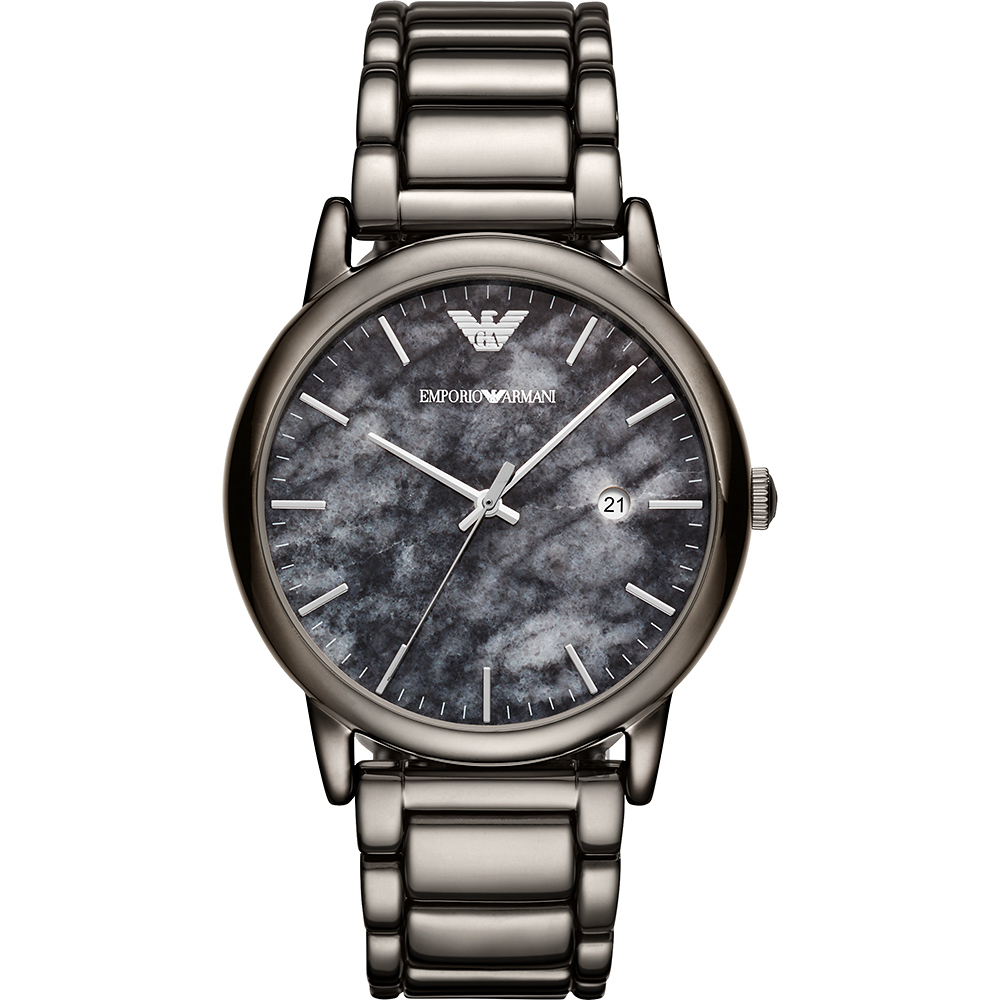 Emporio Armani LUIGI 秋冬大理石紋手錶(AR11155)