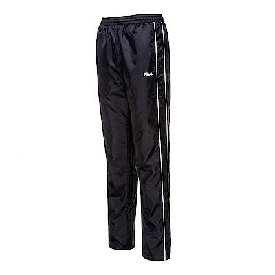 FILA 男款風衣長褲-黑 1PNS-5461-BK