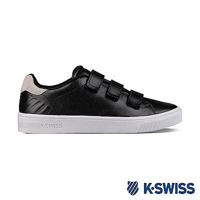 K-Swiss Court SC Strap休閒運動鞋-男-黑/米色