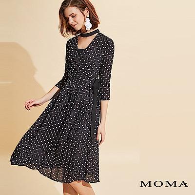 MOMA 開襟雪紡圓點洋裝