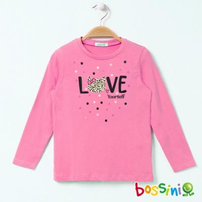 bossini女童-印花長袖T恤07粉紅