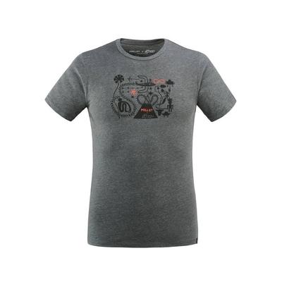 MILLET 男 F. ELVIRA LIMITED 短袖快排T恤 鐵灰-MIV86698786