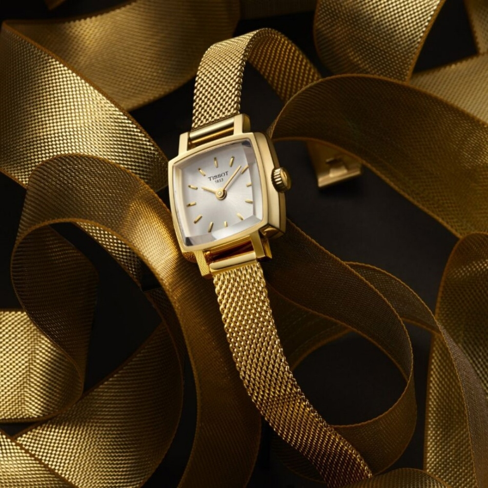 TISSOT LOVELY SQUAREU 優雅時尚女錶(T0581093303100)20mm/金色