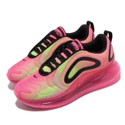 Nike 休閒鞋 Air Max 720 PRNT 女鞋 海外限定 全腳掌氣墊 舒適 避震 穿搭 粉 黑 CW2537-600