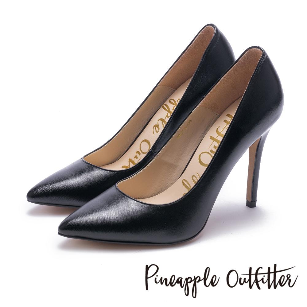 Pineapple Outfitter 性感尤物 素面尖頭高跟鞋-黑色