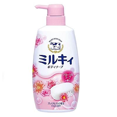 日本牛乳石鹼-牛乳精華沐浴乳(玫瑰花香型)550ml(總代理)