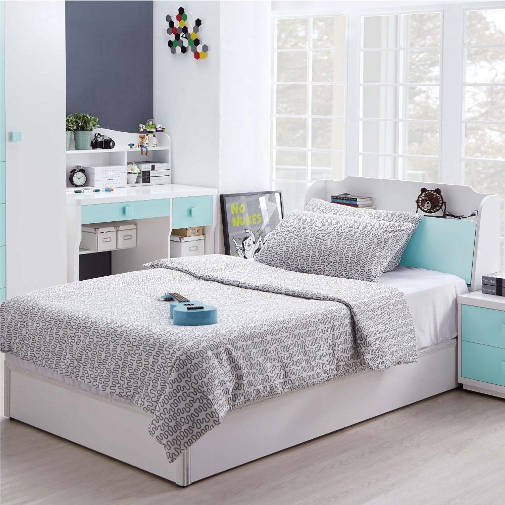 文創集 柯利森3.5尺單人床組(床頭箱+六分床底+不含床墊)-106x212x94cm免組