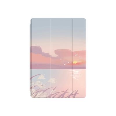 ZOYU原創 iPad Pro 11(2021) 保護殼 透明氣囊殼 彩繪圖案款-日落餘暉(三折式/軟殼/內置筆槽/可吸附筆)