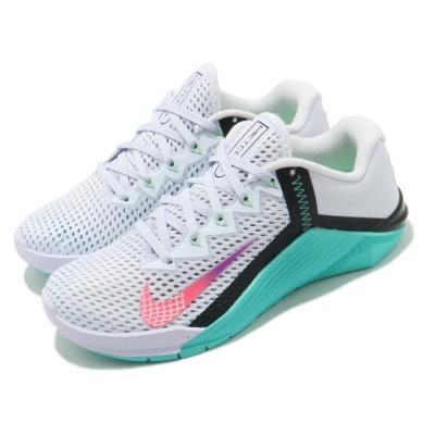 Nike 訓練鞋 Wmns Metcon 6 女鞋 健身房 有氧 輕量 透氣 白 藍 AT3160020