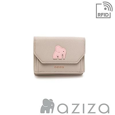 aziza ADELA三折短夾 灰色