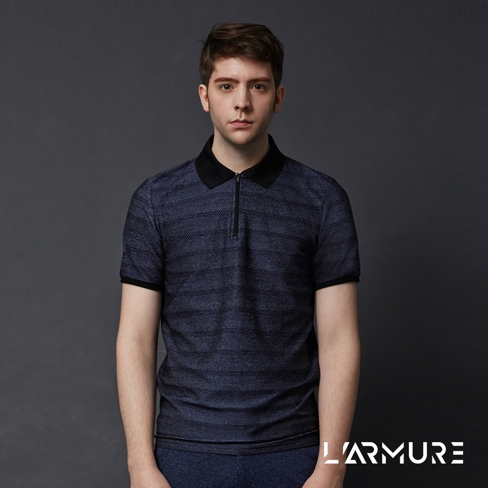 L'ARMURE 男裝 男士織紋POLO