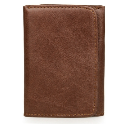 玩皮工坊-真皮復古多隔層3折男士皮夾錢包男夾LH350