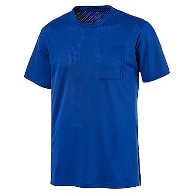 PUMA-男性訓練系列A.C.E.口袋短袖T恤-鮮寶藍-歐規