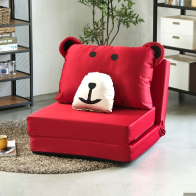 (限時下殺) Home Feeling 熊熊單人沙發床/和室椅/沙發(4色)