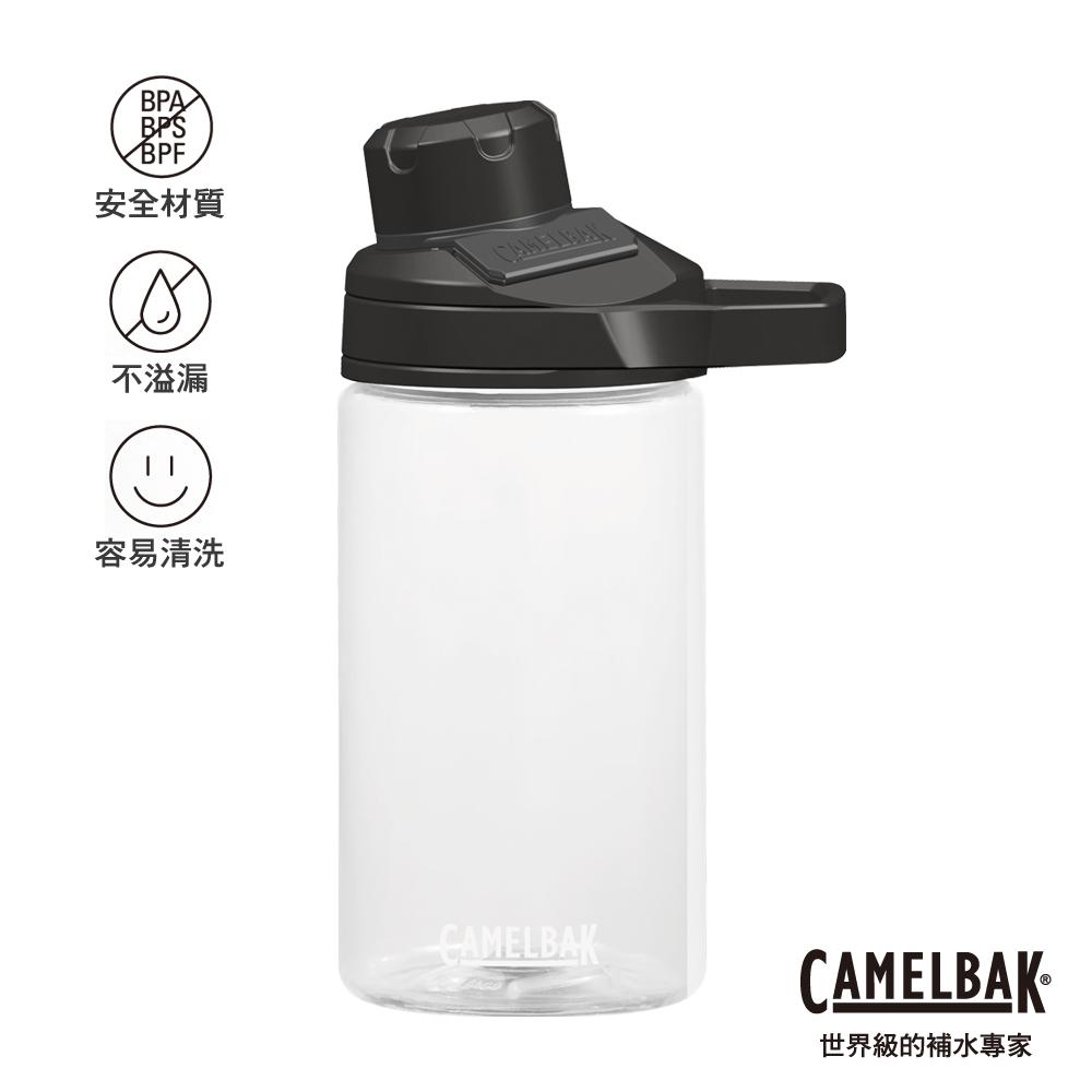 【美國 CamelBak】400ml Chute Mag戶外運動水瓶 晶透白