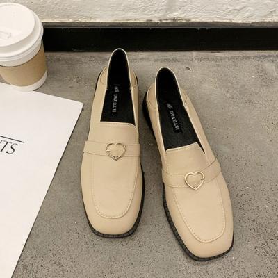 KEITH-WILL時尚鞋館 簡約時尚隨性自在愛心樂福鞋-杏