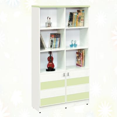 文創集 莉可 環保2.7尺南亞塑鋼二門書櫃/收納櫃-81x34.3x150.9cm免組