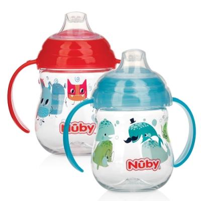 【美國 Nuby】晶透學飲杯(鴨嘴)270ml (顏色款式隨機出貨)