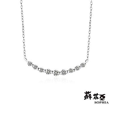 蘇菲亞SOPHIA - 輕珠寶系列你的微笑0.20克拉八心八箭鉑金鑽鍊