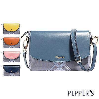 PEPPER`S Diamond 綾格紋緹花布斜背包