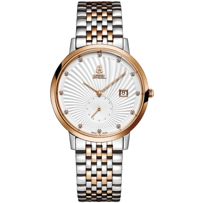 ERNEST BOREL 瑞士依波路錶 喬斯系列 玫瑰金鑲鑽-白色37mm