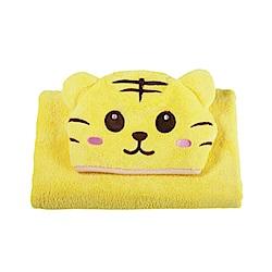 COTEX可愛動物大浴巾泰可虎(鵝黃色)