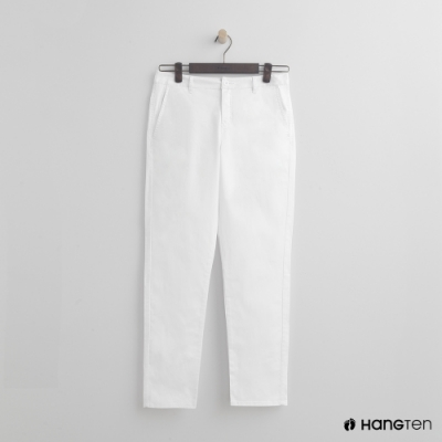 Hang Ten - 女裝 - 簡約純色淑女窄褲 - 白