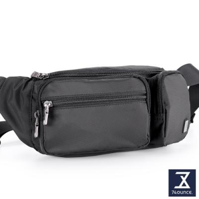 74盎司 尼龍運動腰胸包(5層)[G-1052-SW-M]黑