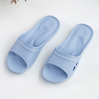 維諾妮卡 嚴選Q彈家居拖鞋-水藍