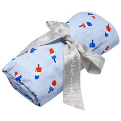 美國 Angel Dear 竹纖維嬰幼兒包巾禮盒 (小冰棒)