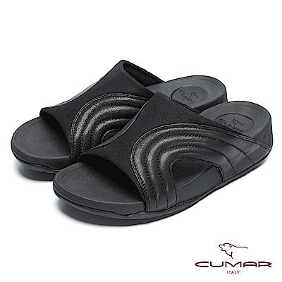 CUMAR 陽光型男 樂活時尚舒適拖鞋-黑