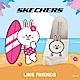 SKECHERS 女休閒系列 涼拖 2ND TAKE LINE FRIENDS 兔兔限定款 - 31644WHT product thumbnail 1