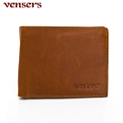 vensers 小牛皮潮流個性皮夾~(NB0154804土黃短夾)