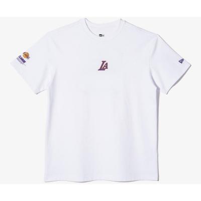New Era x XLARGE x NBA 棉質短袖T恤 湖人隊 白