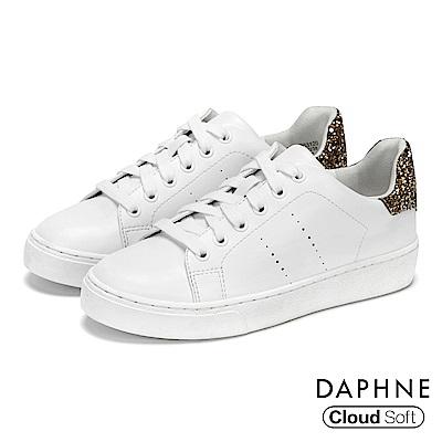 達芙妮DAPHNE 休閒鞋-原色佐閃耀亮片雲軟厚底休閒鞋-金
