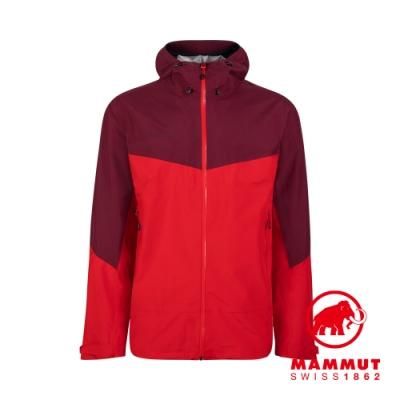 【Mammut 長毛象】Convey Tour HS Hooded Jacket GTX防風防水連帽外套 岩漿紅/梅洛酒紅 男款 #1010-27840