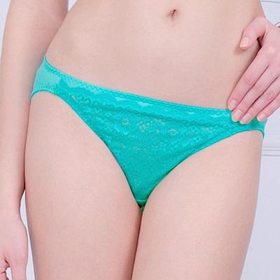 思薇爾 峰采系列M-XL蕾絲低腰三角褲(綠水晶)