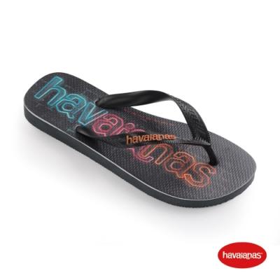 Havaianas 哈瓦仕 拖鞋 夾腳拖 人字拖 巴西 男鞋 女鞋 石墨色 4145744-0074U Logomania Print 大Logo