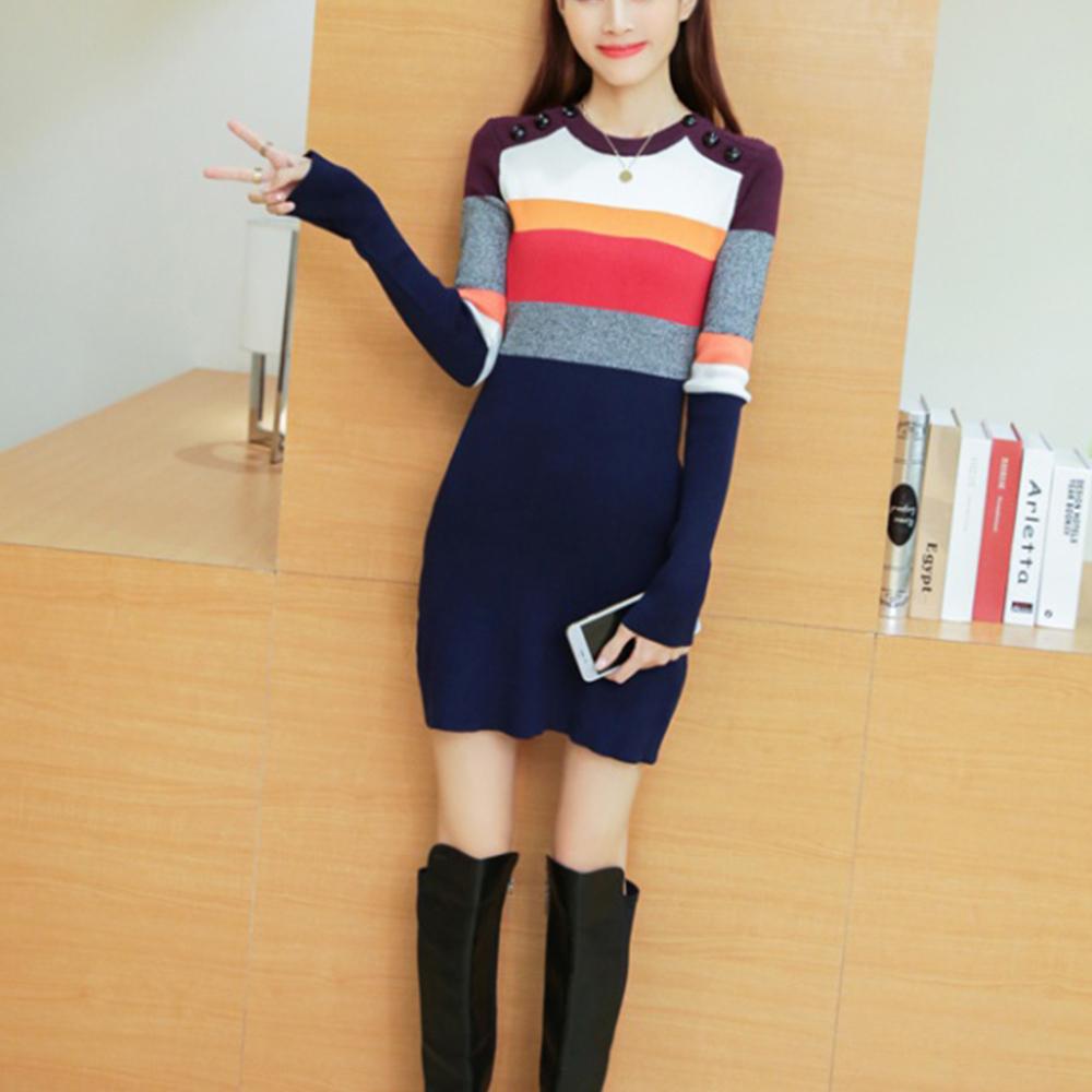Lockers 木櫃 韓劇同款多色長版毛衣/針織洋裝