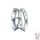 K'OR蔻兒 愛情的樣子鑽石/白鋼成對戒指
