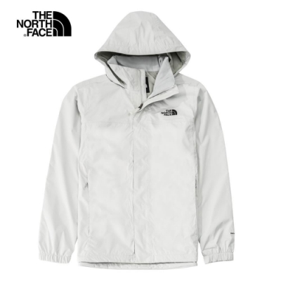 The North Face 男 防水透氣耐磨連帽衝鋒衣 灰白色-NF0A49F79B8