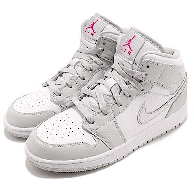 Nike 籃球鞋 Jordan 1 Mid 運動 女鞋