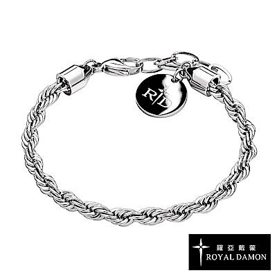 Royal Damon羅亞戴蒙 手鍊 真鑽系列 纏綿-BK591