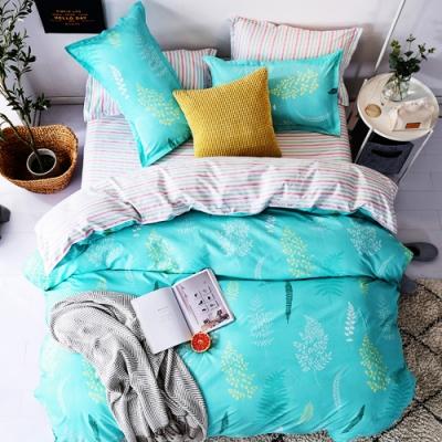 Grace Life 彼岸綠 雙人柔絲絨涼被床包四件組
