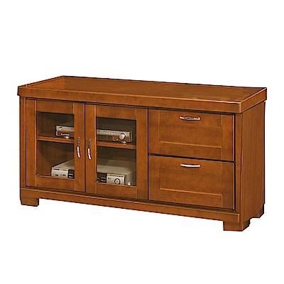 綠活居 摩亞4尺實木電視櫃/視聽櫃-124.5x49.5x63cm-免組