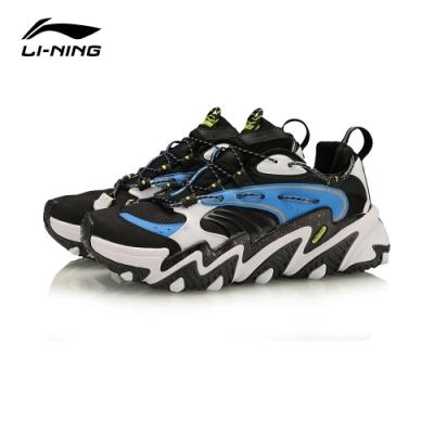 LI-NING 李寧 X-Claw貓爪 時尚潮流休閒鞋 男 白黑天空藍(AGLQ013-1)